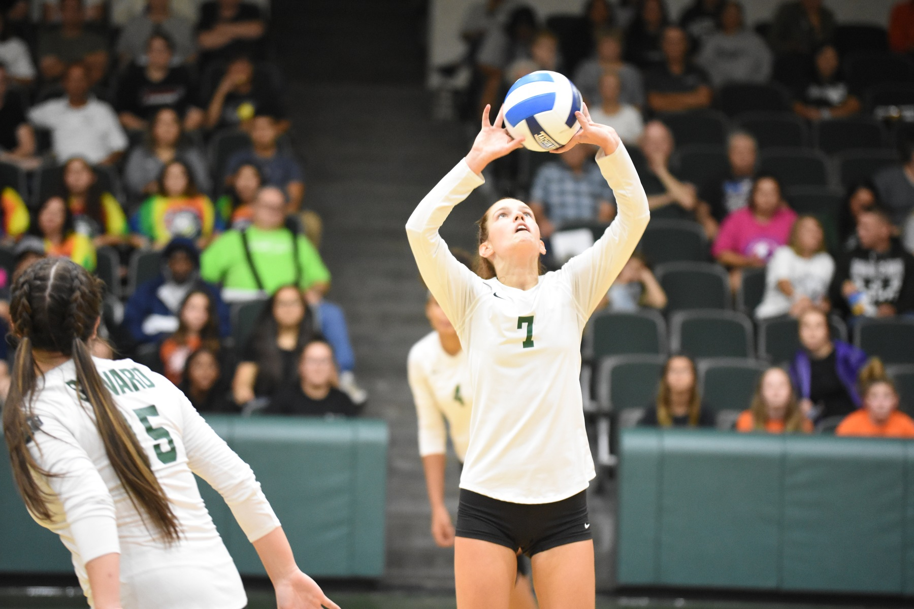 Lady Saints Defeating Butler in Three Straight Sets