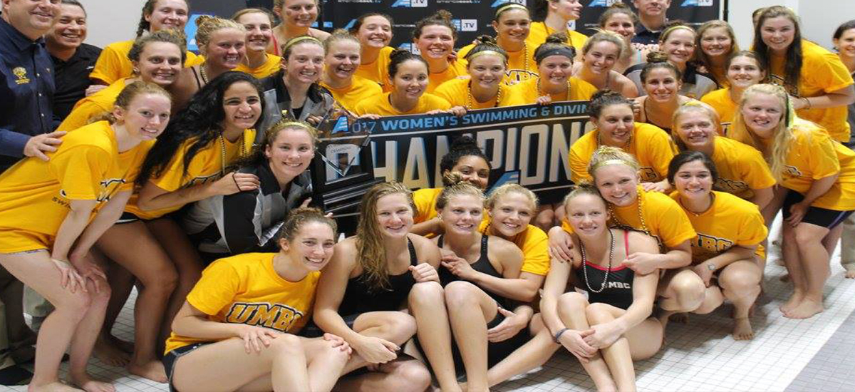 THREE-PEAT! UMBC Swimming and Diving Defends Crown, Wins 2017 America East Swimming and Diving Championship