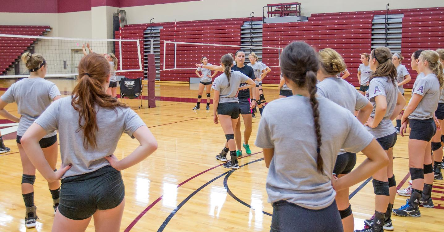 alma college volleyball The athletics department of alma college organizes intramural events and  regular activities in basketball, flag football, racquetball, softball, volleyball,.