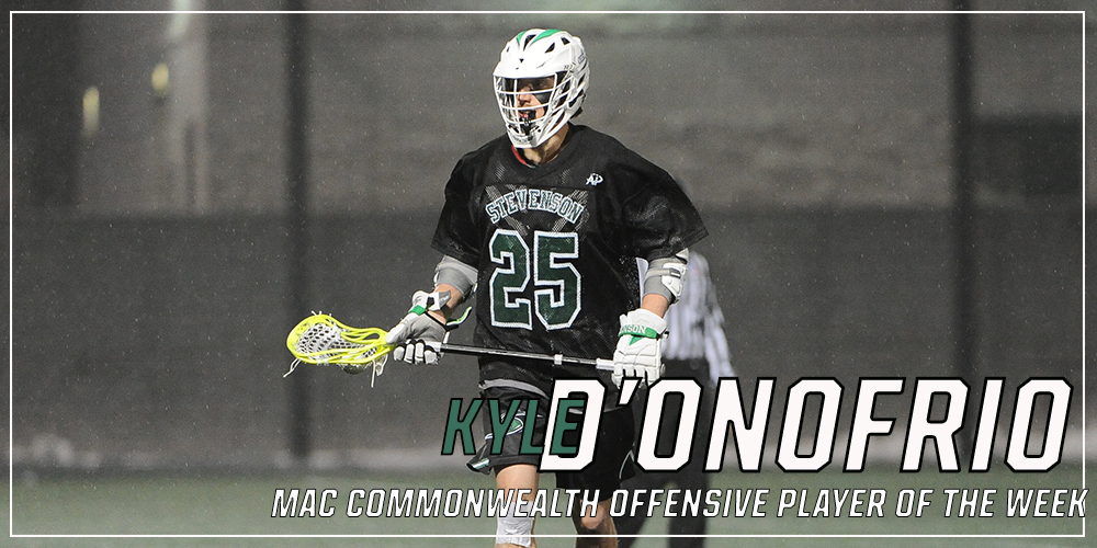 Kyle D'Onofrio Named MAC Commonwealth Offensive Player of the Week