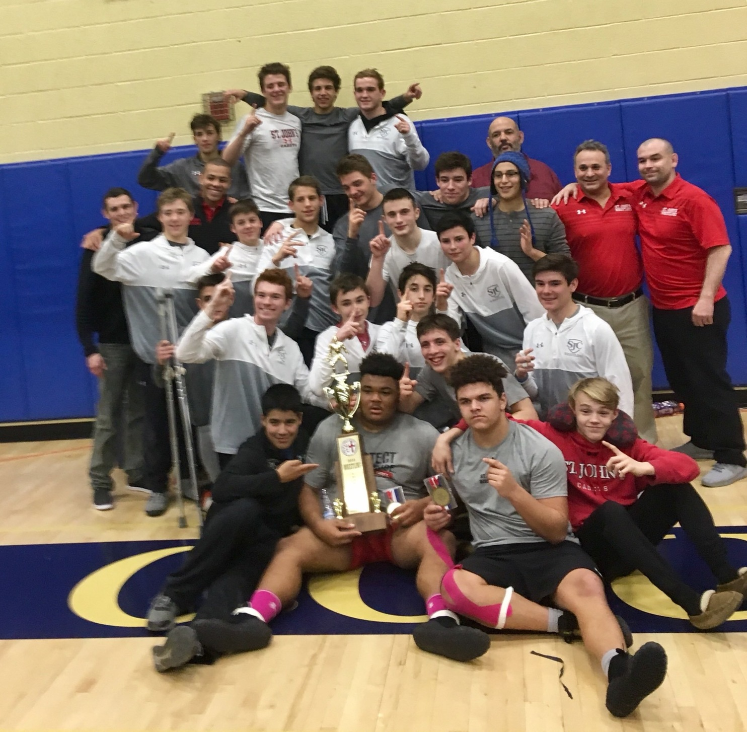 Things get a little chippy at WCAC wrestling meet as St. John's wins team title