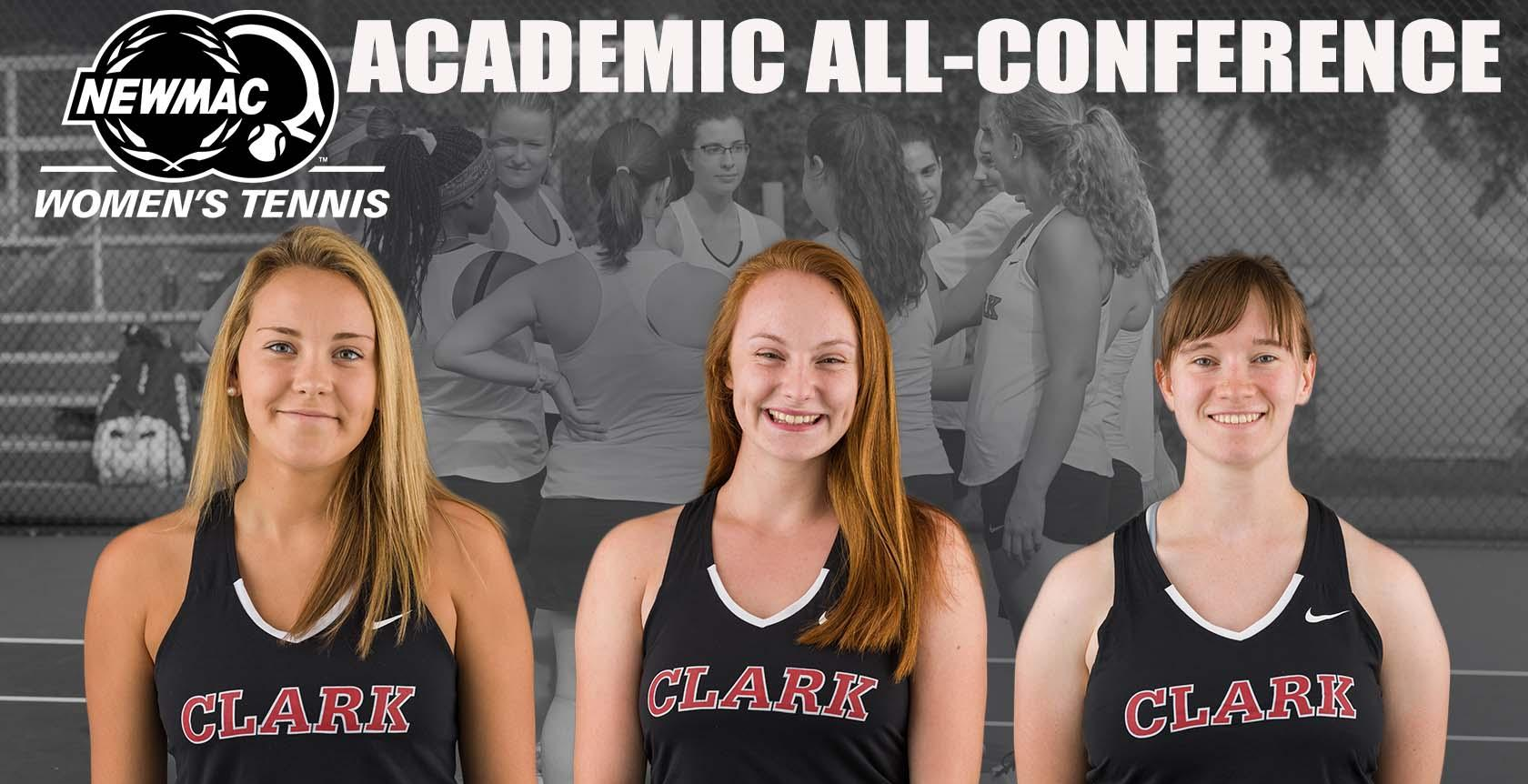 Tarbox, Gates, Benson Named to Women's Tennis NEWMAC Academic All-Conference Team