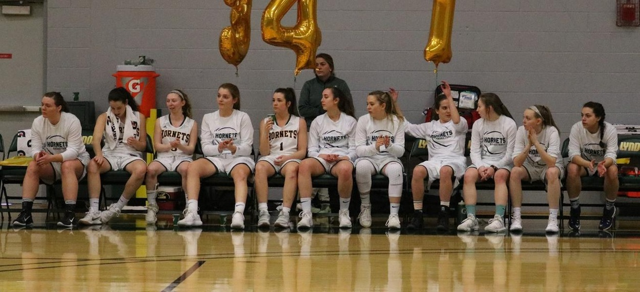 Hornet women down New England College on Senior day
