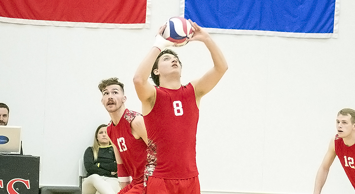 Men's Volleyball Cruises Past Keuka, 3-1