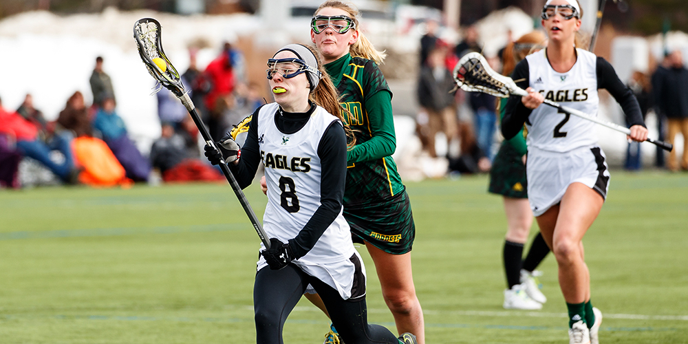 Deshaies Scores 100th Goal as Women's Lacrosse Downs MMA, 15-8