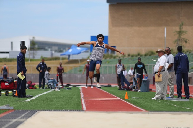 File Photo: Blair Robinson wins the triple jump with a PR distance of 14.96 meters