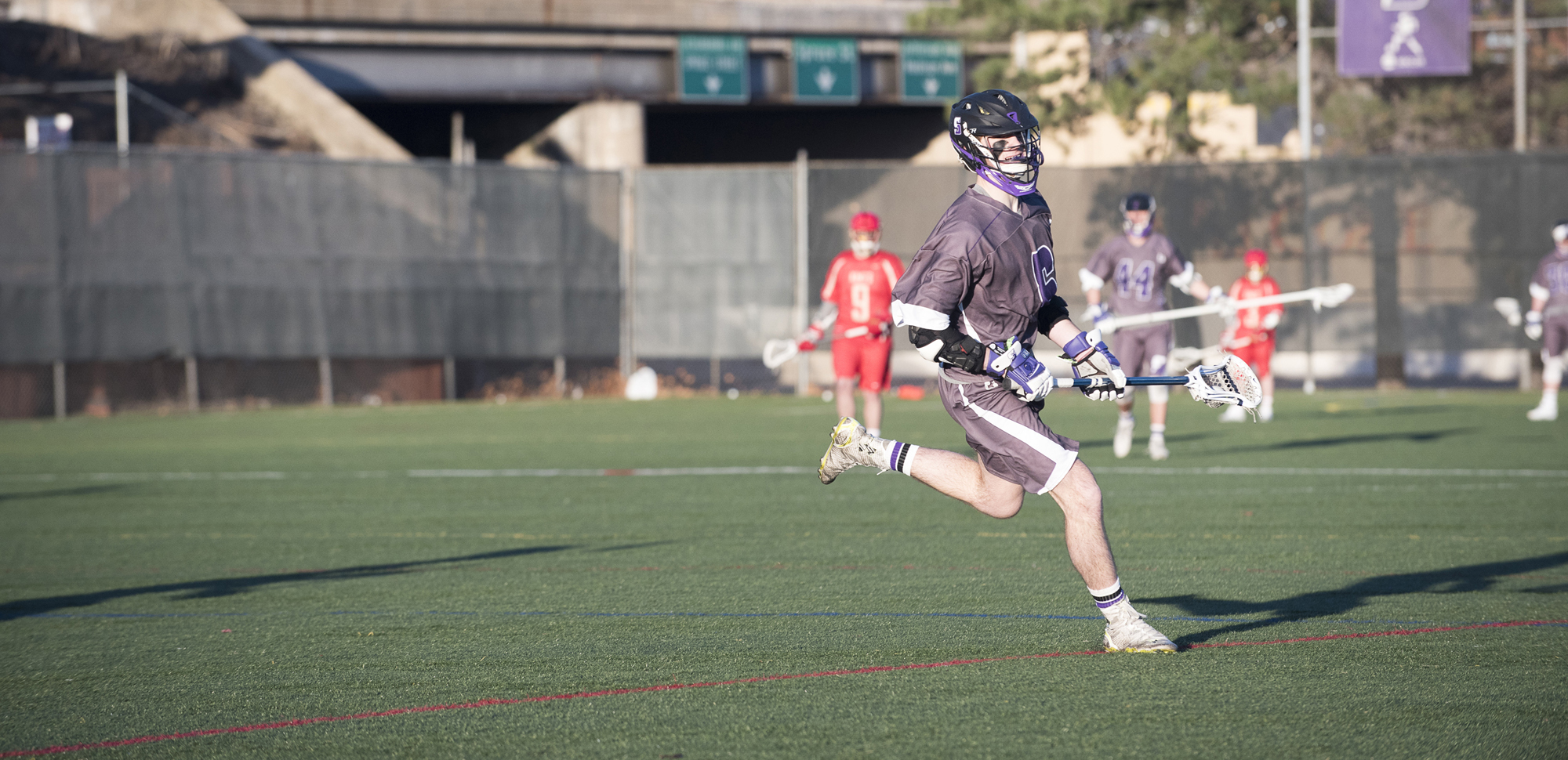 Sophomore attackman Connor Kirkwood had a career-high seven goals in the win over Catholic on Thursday.