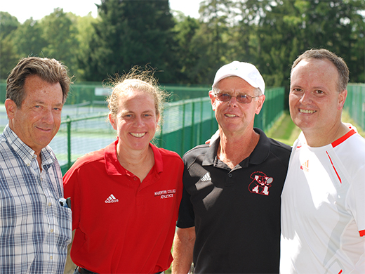 Mike Dugan '85 (far right) with Sean Sloane, Wendy Smith and Ken Norris.