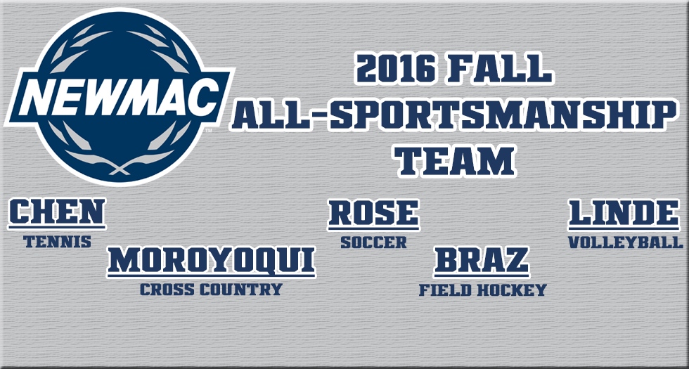 Five Named to NEWMAC Fall All-Sportsmanship Teams