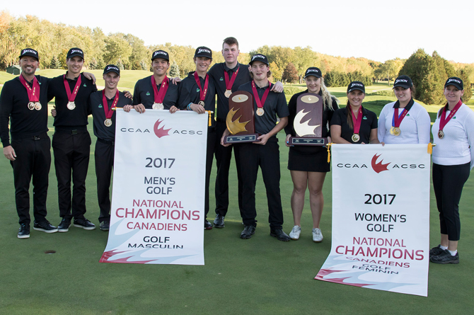 UFV wins double gold at the 2017 PING CCAA Golf National Championships