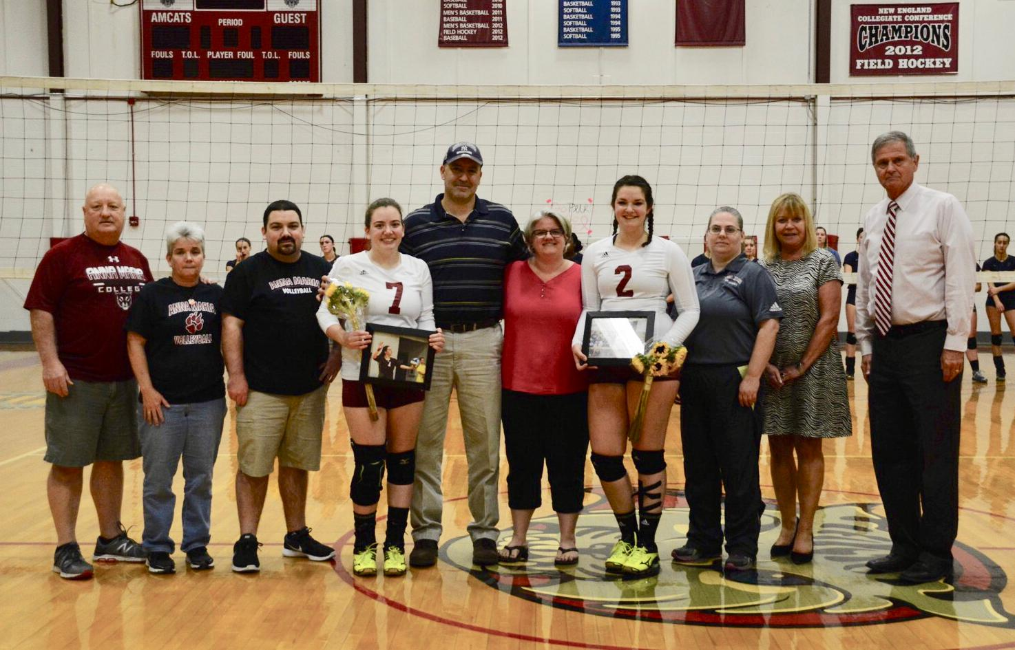 WOMEN'S VOLLEYBALL:  Anna Maria falls to Rivier on Senior Night