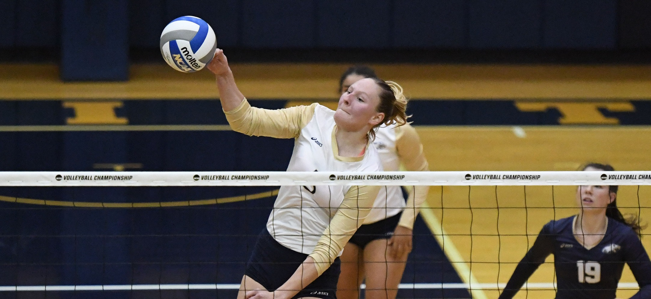 Marybeth Weihbrecht hit an efficient .625 with 11 kills to go with her two solo blocks and four block assists.