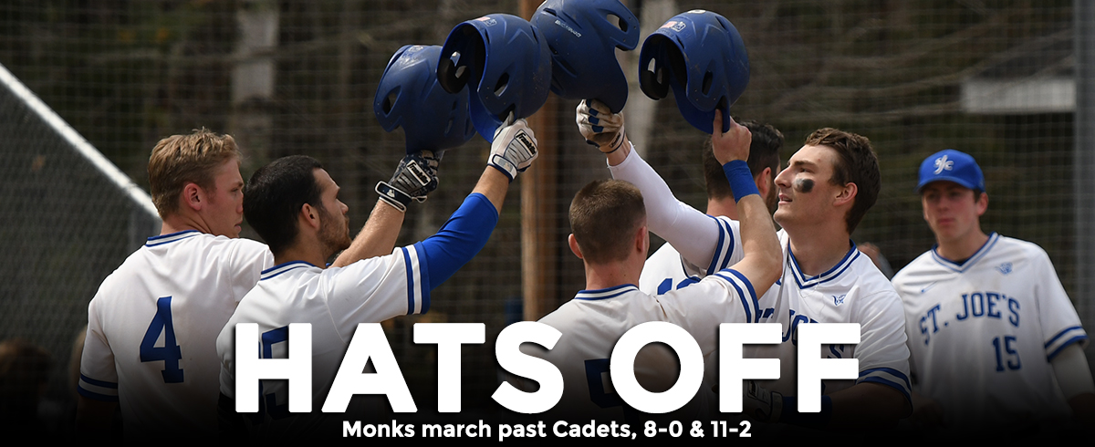 Monks Take Two From Cadets, 8-0 & 11-2