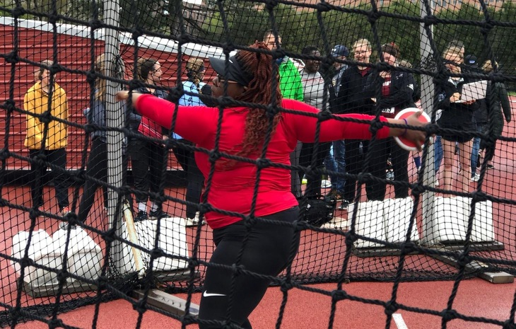 Women's Track & Field Claims Fourth-Place at NECC Championships, Louis Places First in Discus Throw