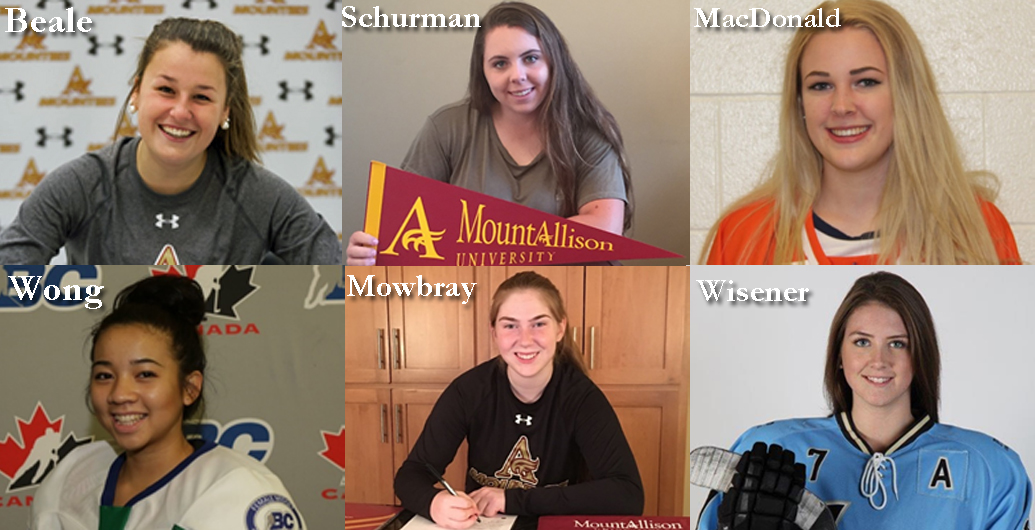 Mount Allison Women's Hockey program is pleased to Announce New Recruits for the 2017-18 Season