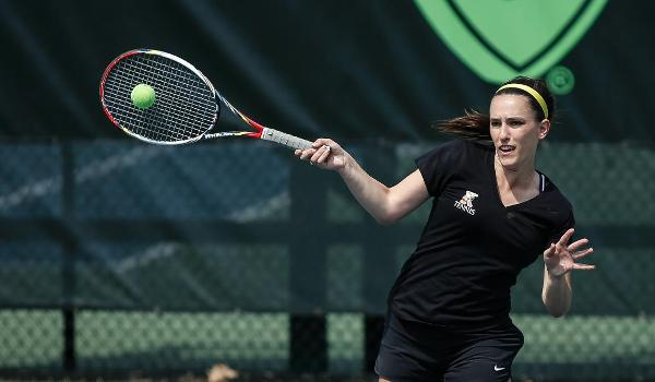 Sarah Woods falls in round of 32 at the NCAA III Women's Tennis Individual Championships