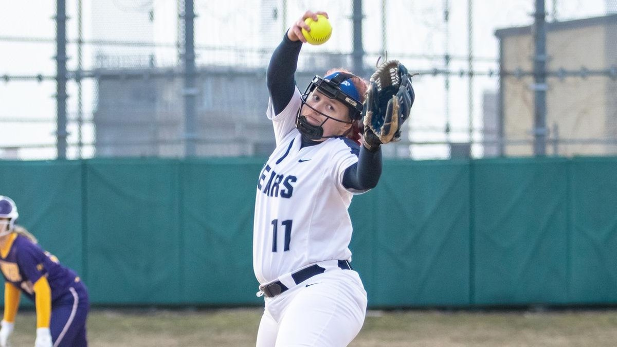 Mecham's One-Hitter, Hartwig's Homer Highlights Softball Split at Purchase