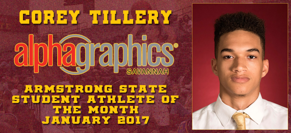Corey Tillery Named AlphaGraphics Armstrong State Student-Athlete of the Month for January 2017