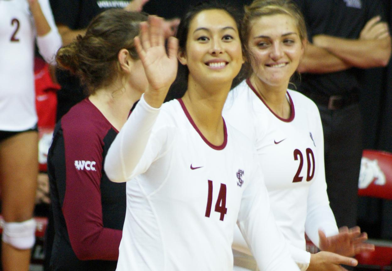 Three Broncos Named to All-WCC Volleyball Teams