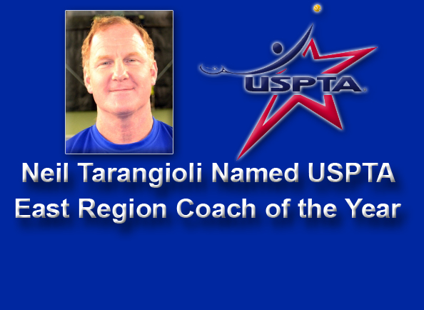 Clippers' Head Tennis Coach Neil Tarangioli Named USPTA East Region Coach of the Year