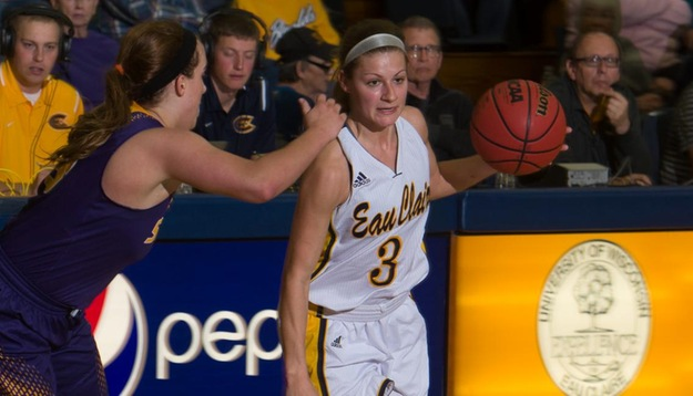 Dunathan's career night leads Blugolds in 74-68 win over Stout