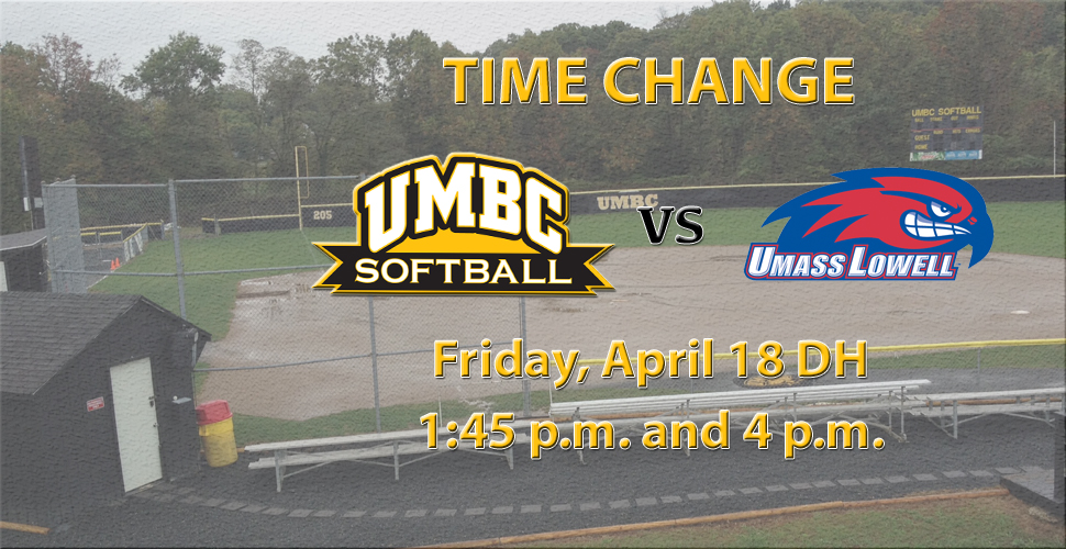 Time Change for UMBC Softball Doubleheader Versus UMass Lowell