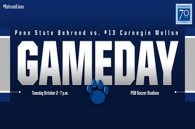 Penn State Behrend Hosts No. 8 Carnegie Mellon Tuesday