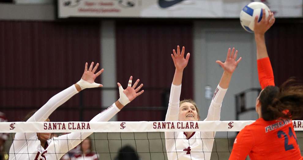 Volleyball Begins Road Swing with Loss at Pepperdine