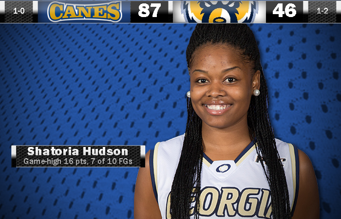 Lady 'Canes Coast In Opener