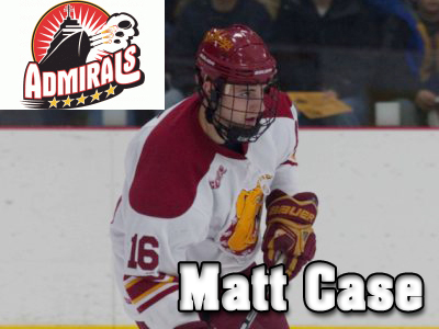 Norfolk Admirals Ink Matt Case To A Tryout Contract