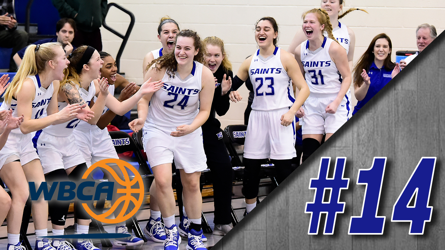 Women's basketball moves up to No. 14 in WBCA poll