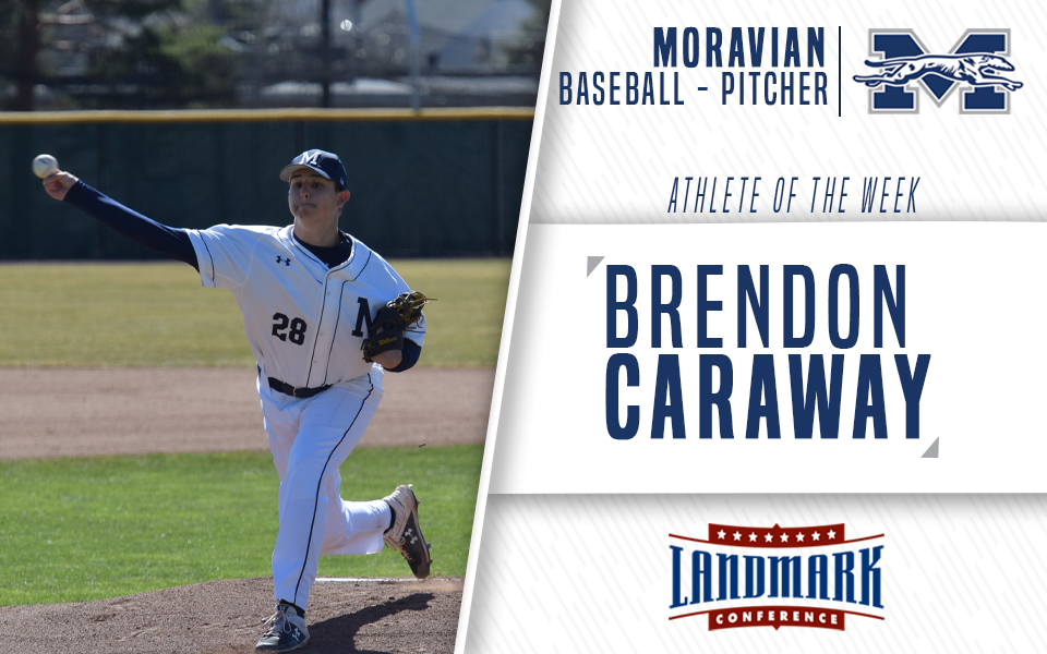 Brendon Caraway selected as Landmark Conference Baseball Pitcher of the Week