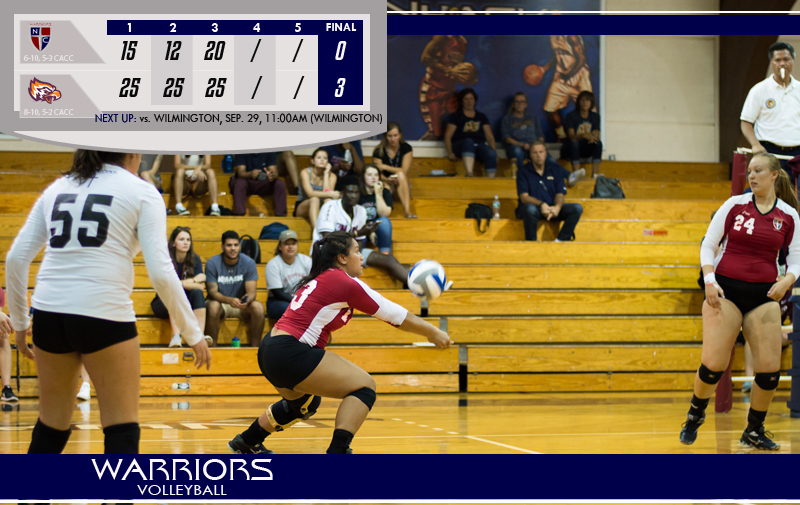 Women's Volleyball Falls at Home to Post Eagles