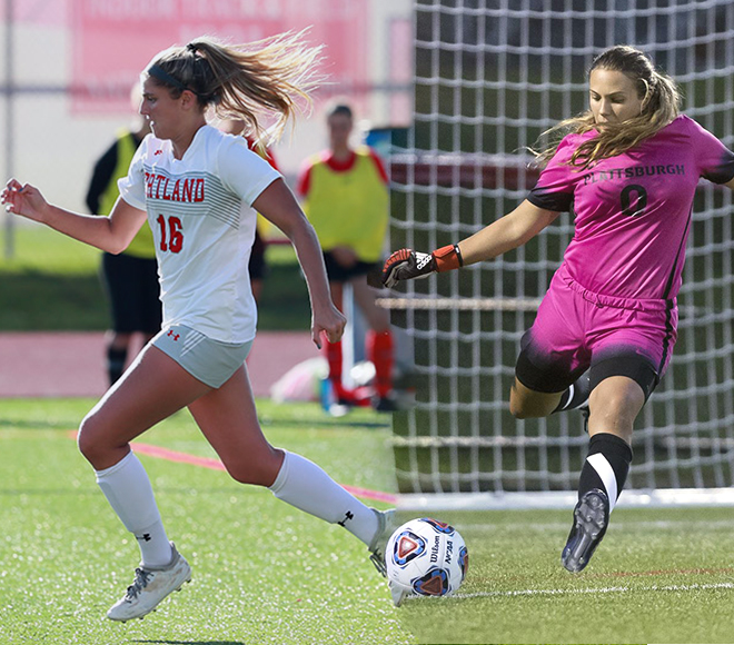 Galluzzo, Adams announced as SUNYAC Women's Soccer Athletes of the Week