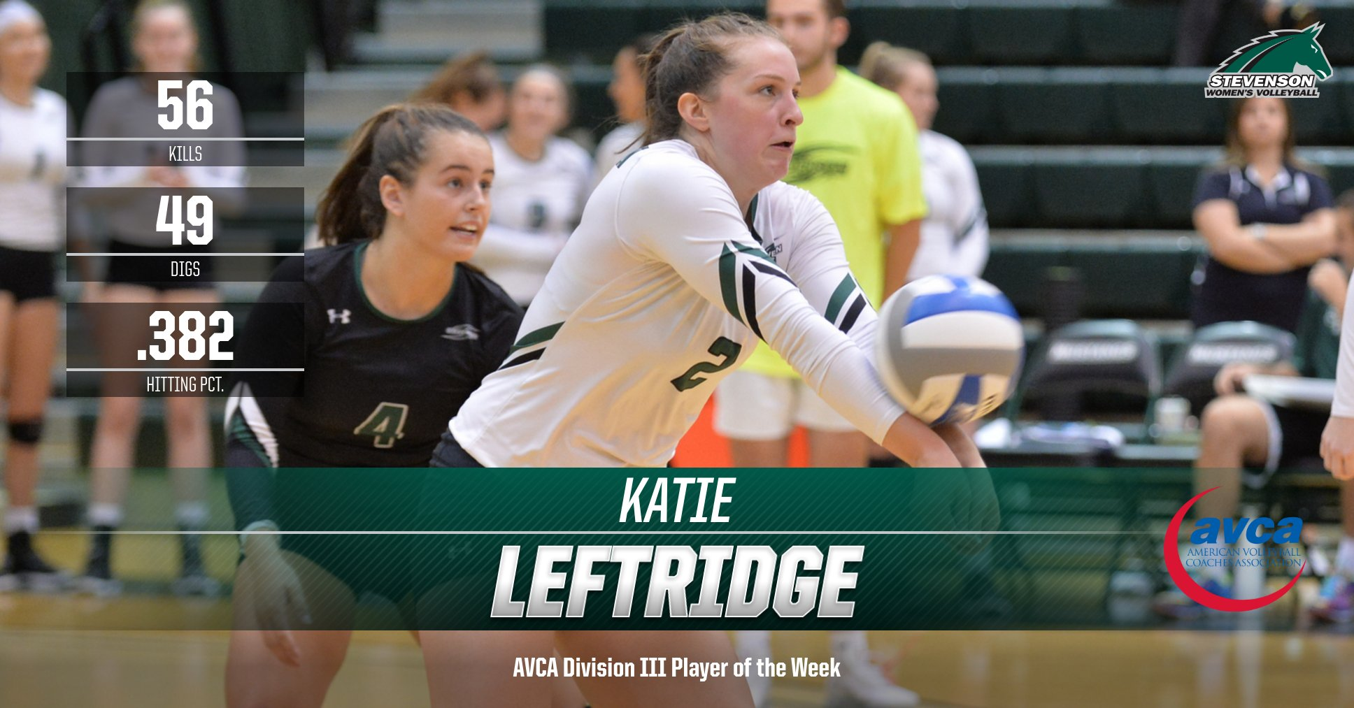 Katie Leftridge Named AVCA Division III Player of the Week