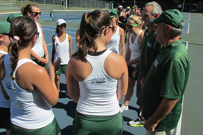 Golden Knights Spoil Sage Women's Tennis on Tap event, beating Gators