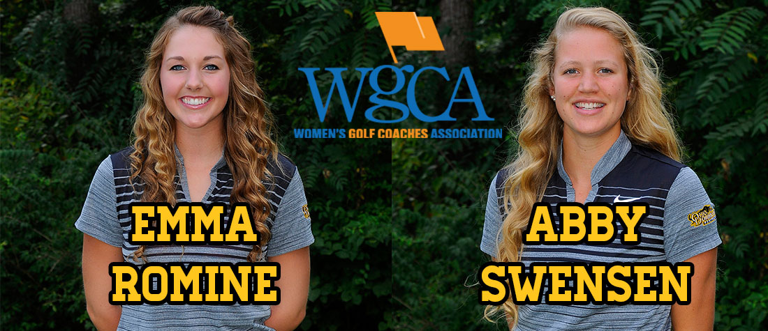 Romine, Swensen Tabbed As WGCA All-American Scholars