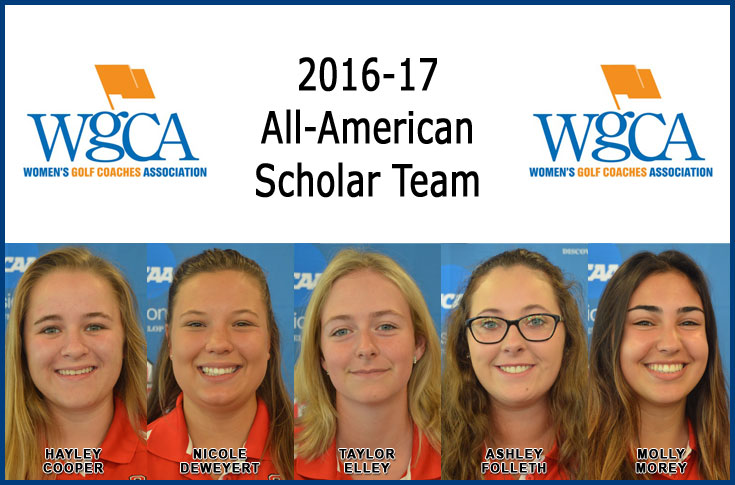 Five women's golfers named to WGCA All-American Scholar Team