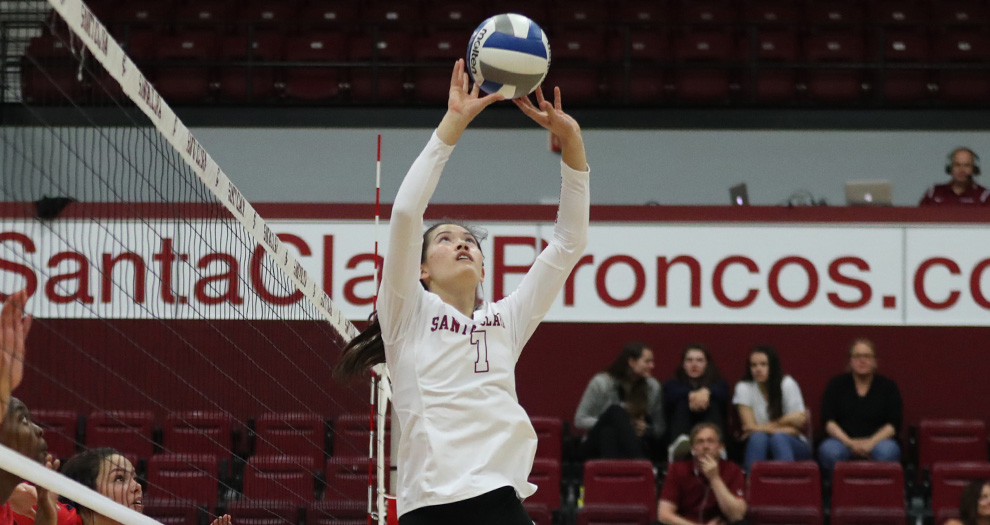Michelle Shaffer logged a career-high 30 assists for Santa Clara on Friday night.