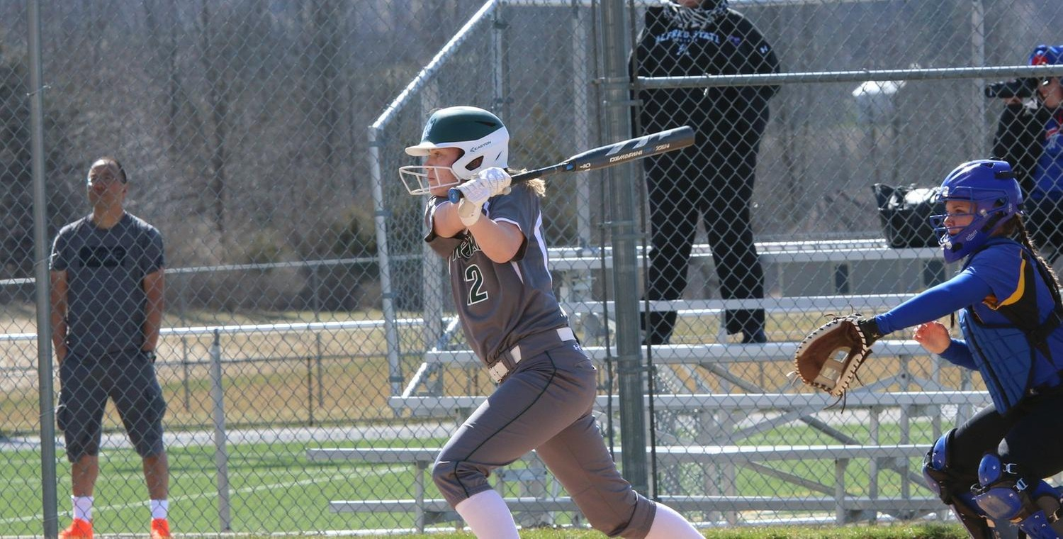 Samantha Cook (12) had a combined 4 hits and 5 RBIs for Keuka on Tuesday -- Photo by Ed Webber