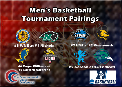 Men's Basketball Set to Host UNE in CCC Quarterfinals