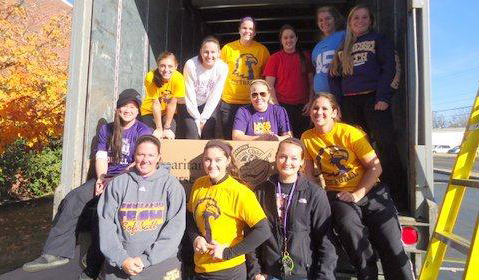 Golden Eagle Softball gives back for the Holidays