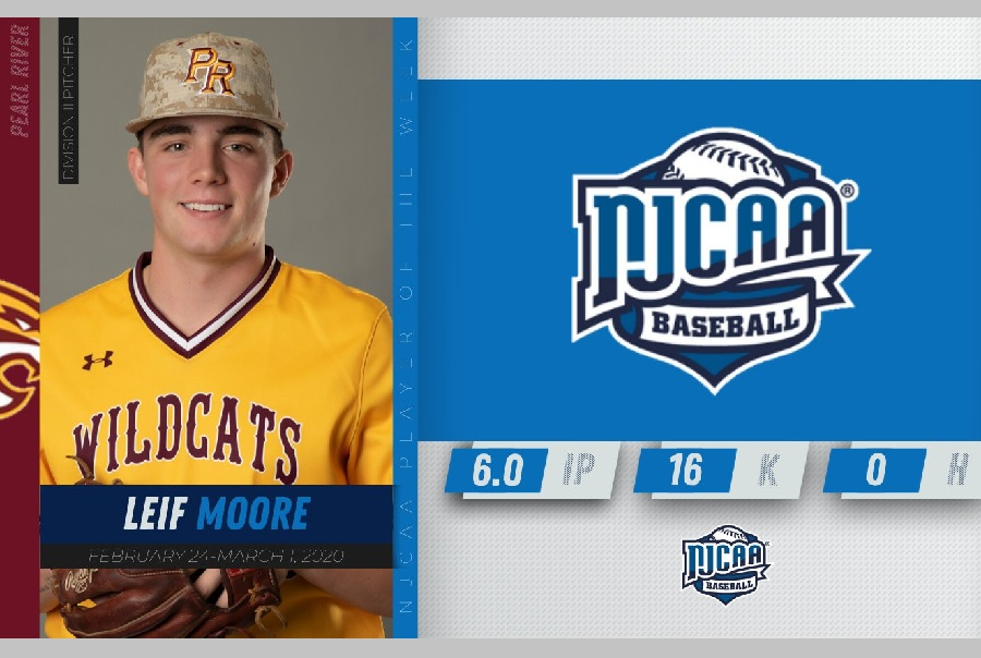Pearl River's Leif Moore named NJCAA Pitcher of theWeek