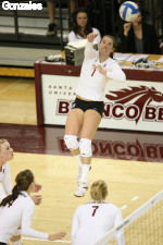 Matich And Lowe Register Double-Doubles As Santa Clara Falls 3-2 To Saint Mary's
