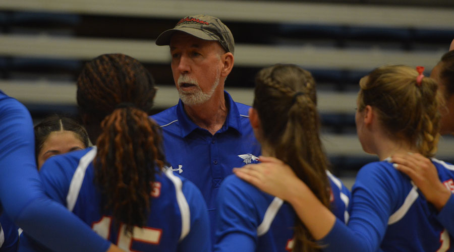 Head Coach Patrick Hall and the Blue Dragon volleyball team goes 1-1 on Friday in the NMMI Classic is Roswell, NM