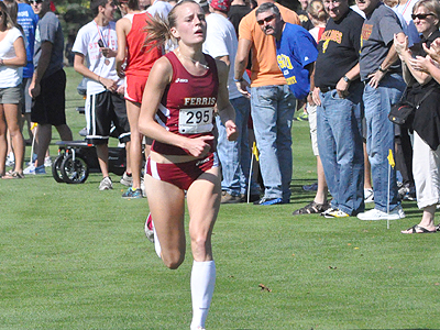 FSU's Tina Muir captured the win in the collegiate women's 5K race (Photo by Rob Bentley)