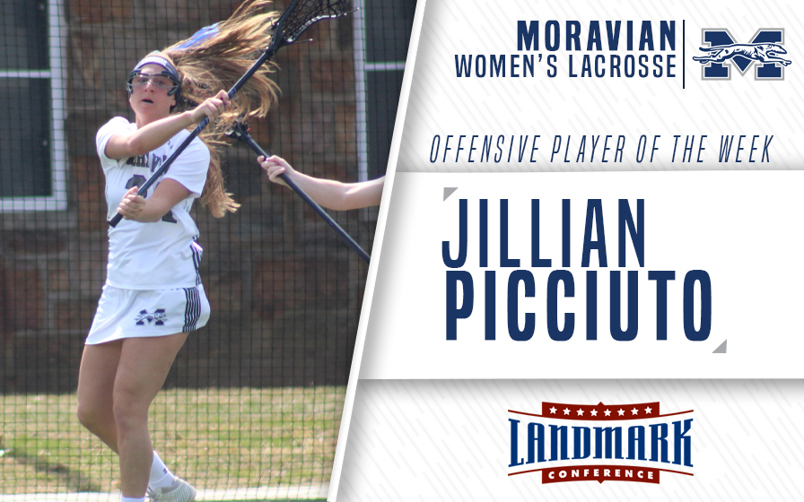 Jillian Picciuto selected as Landmark Conference Women's Lacrosse Offensive Athlete of the Week.