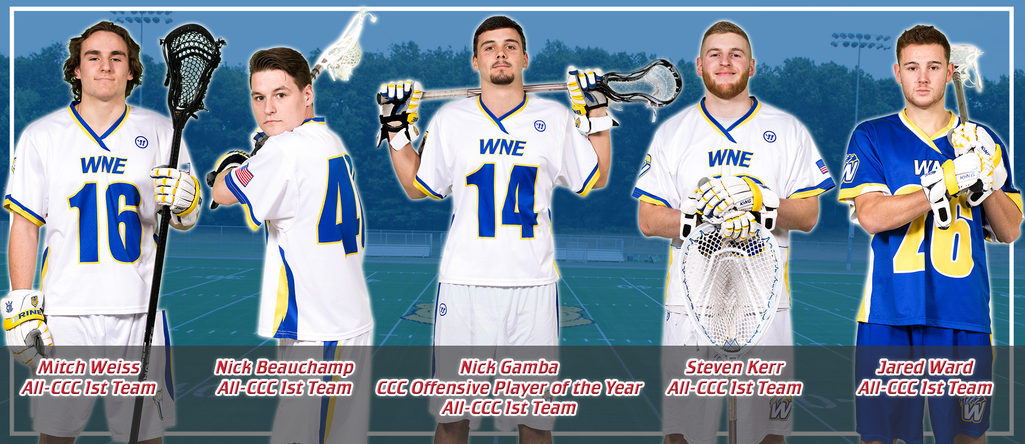 Gamba Highlights 12 All-CCC Selections for Western New England