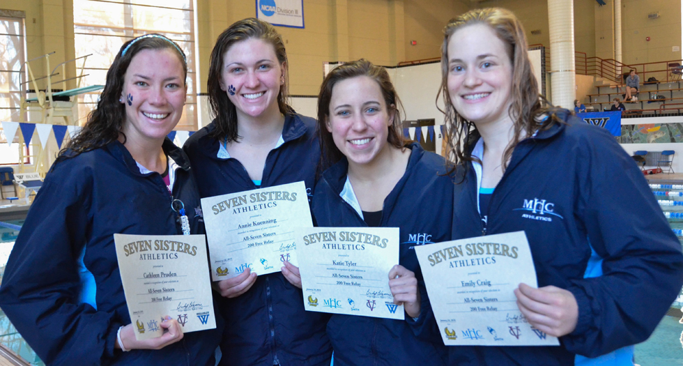 Swimming & Diving Finishes 3rd at Seven Sisters Championship