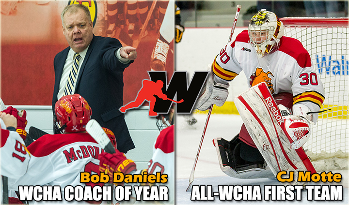 Ferris State Hockey Honored On All-WCHA Teams; Daniels Tabbed As Coach Of The Year